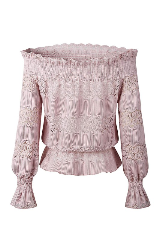 Ruffle Pink Off Shoulder
