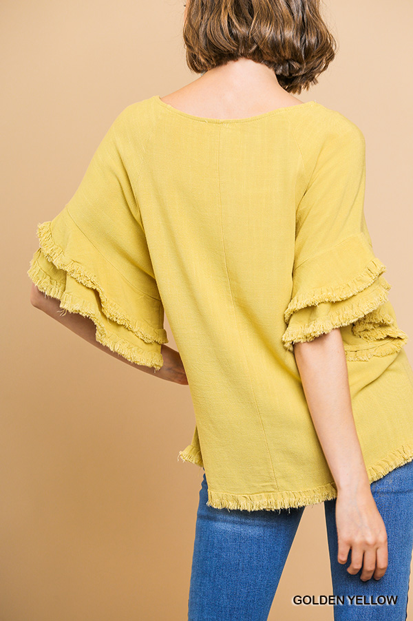 Layered Yellow Blouse