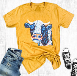 Painted Cow Tee