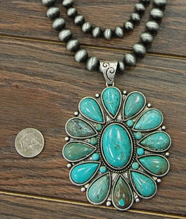 Large Natural Turquoise Navajo